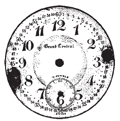 Tim Holtz Rubber Stamp POCKET WATCH Clock Stampers Anonymous H1-1284