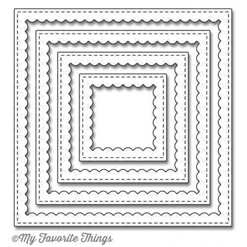 My Favorite Things STITCHED SQUARE SCALLOP FRAMES Die-Namics MFT869 Preview Image