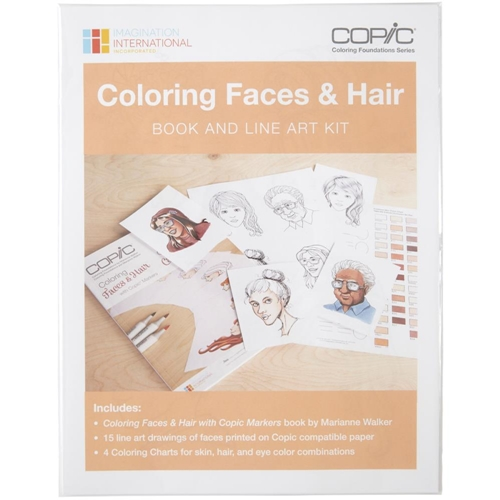 Copic Marker COLORING FACES AND HAIR Book And Line Art Kit CBFACEKT Preview Image