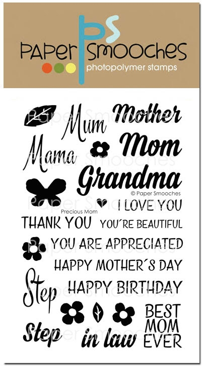 Paper Smooches PRECIOUS MOM Clear Stamps M1S265 zoom image
