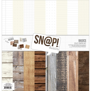 Simple Stories BASICS Snap Color Vibe 12 x 12 Paper Pack 2844