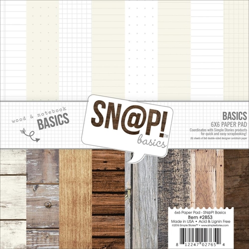 Simple Stories BASICS 6 x 6 Snap Paper Pack 2853 Preview Image