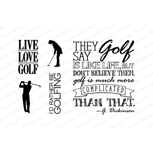 Impression Obsession Clear Stamp GOLF SET CL623 Preview Image
