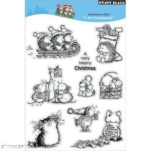 Penny Black Clear Stamps CHRISTMAS CRITTERS 30-006 Hedgy