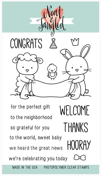 Neat and Tangled ITTY BITTY WELCOMING COMMITTEE Clear Stamp Set NAT152 zoom image
