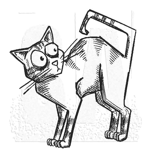 Tim Holtz Rubber Stamp CRAZY CAT 3 M5-2800 * Preview Image