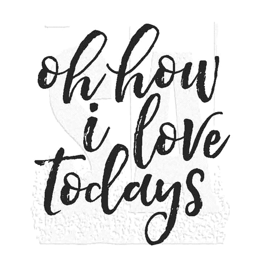 Tim Holtz Rubber Stamp LOVE TODAYS Stampers Anonymous M2-2804* Preview Image