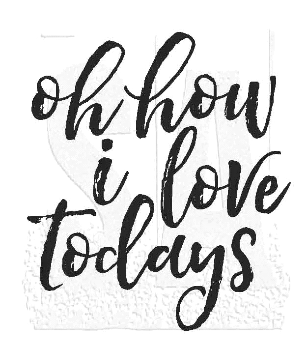 Tim Holtz Rubber Stamp LOVE TODAYS Stampers Anonymous M2-2804* zoom image