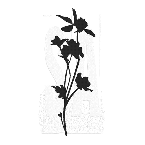 Tim Holtz Rubber Stamp WILDFLOWER 8 Stampers Anonymous J3-2807* Preview Image