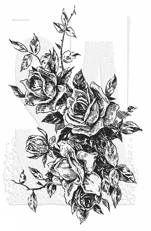 Tim Holtz Rubber Stamp ROSE 2 Stampers Anonymous V1-2823 zoom image