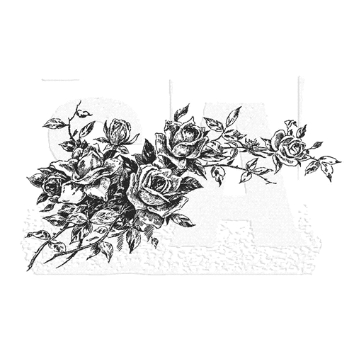 Tim Holtz Rubber Stamp ROSE 1 Stampers Anonymous U3-2822 Preview Image