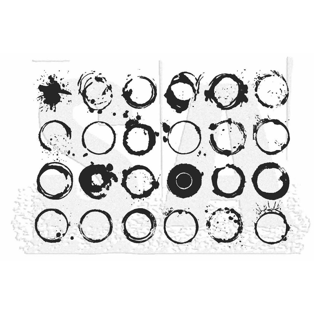 Tim Holtz Rubber Stamp RINGS Stampers Anonymous X1-2833 zoom image