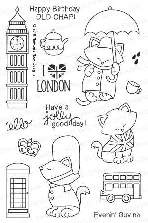 Newton's Nook Designs NEWTON DREAMS OF LONDON Clear Stamp Set 20160301 zoom image