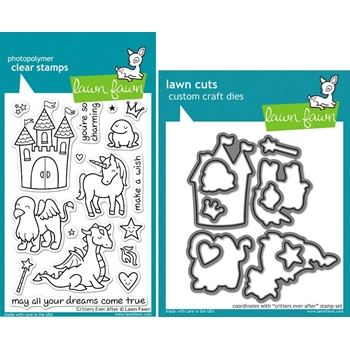 Lawn Fawn SET LFSETCEA CRITTERS EVER AFTER Clear Stamps and Dies