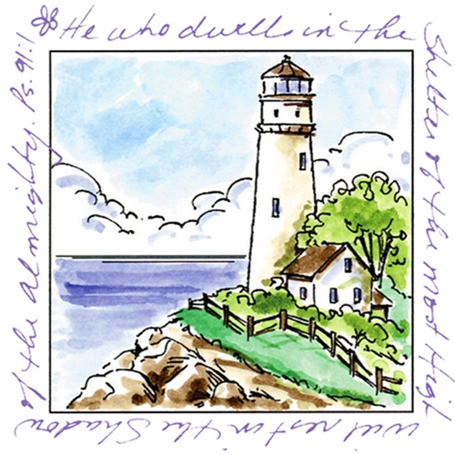 Art Impressions LIGHTHOUSE Window To The World Clear Stamp 3175 Preview Image