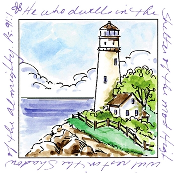 Art Impressions LIGHTHOUSE Window To The World Clear Stamp 3175