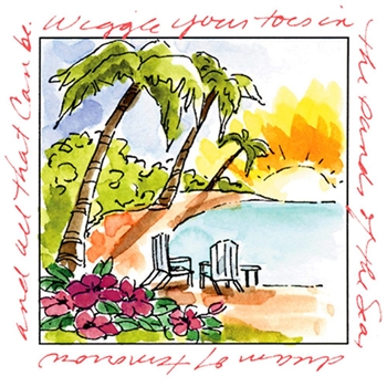 Art Impressions ISLAND Window to the World Clear Stamp 3178