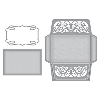 S6-080 Spellbinders CARD, ENVELOPE AND LINER SET Etched Dies