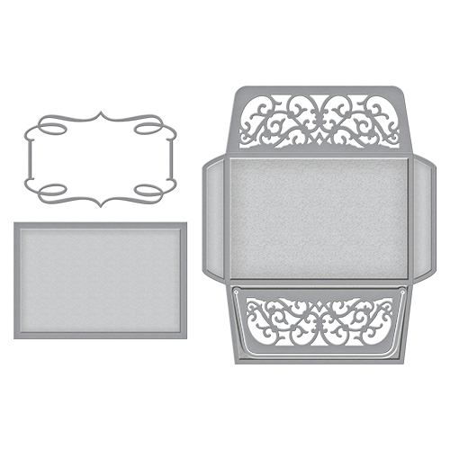 S6-080 Spellbinders CARD, ENVELOPE AND LINER SET Etched Dies zoom image