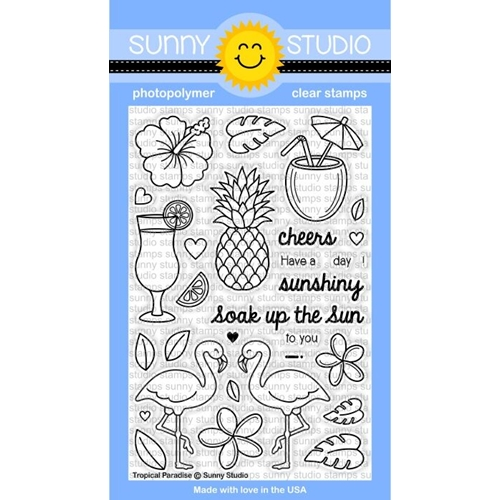Sunny Studio TROPICAL PARADISE Clear Stamp Set SSCL 129 Preview Image