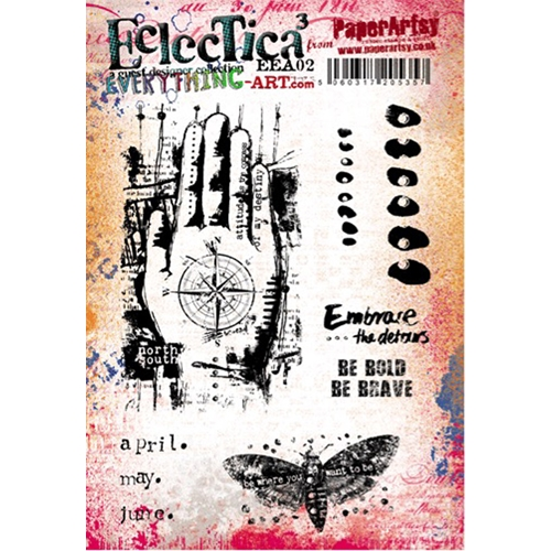 Paper Artsy EVERYTHING ART 02 ECLECTICA3 Rubber Cling Stamp EEA02 Preview Image