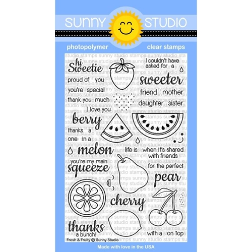 Sunny Studio FRESH AND FRUITY Clear Stamp Set SSCL128 Preview Image