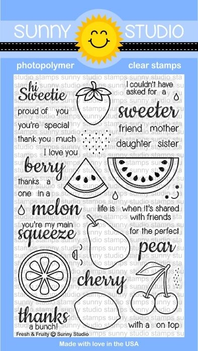 Sunny Studio FRESH AND FRUITY Clear Stamp Set SSCL128 zoom image