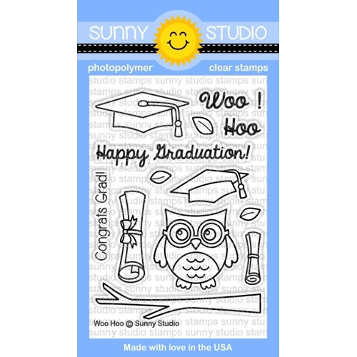 Sunny Studio WOO HOO Clear Stamp Set SSCL 126 Preview Image