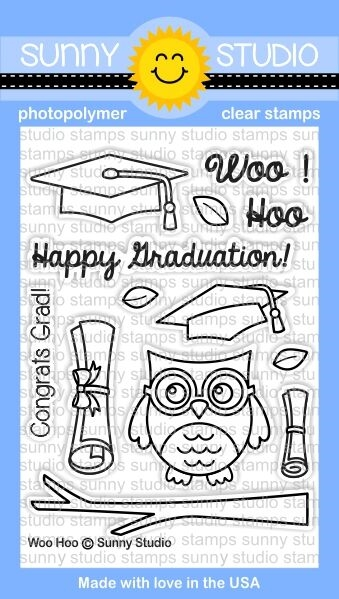 Sunny Studio WOO HOO Clear Stamp Set SSCL 126 zoom image