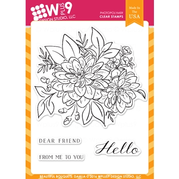Wplus9 BEAUTIFUL BOUQUET DAHLIA Clear Stamps CLWP9BBD*