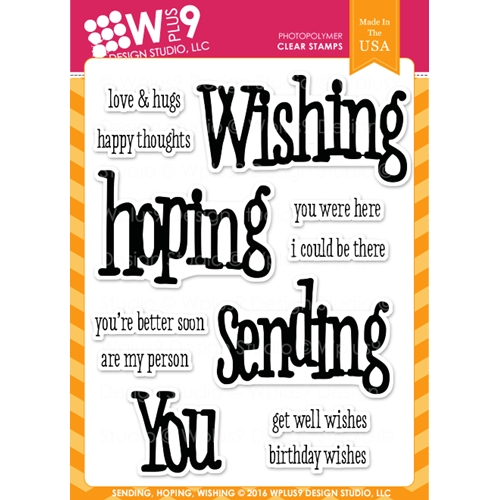 Wplus9 SENDING HOPING WISHING Clear Stamps CLWP9SHW Preview Image