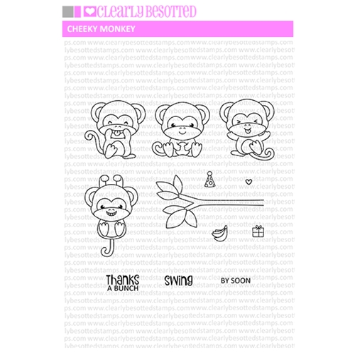 Clearly Besotted CHEEKY MONKEY Clear Stamp Set Preview Image