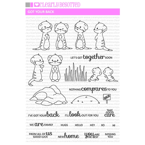 Clearly Besotted GOT YOUR BACK Clear Stamp Set   Preview Image