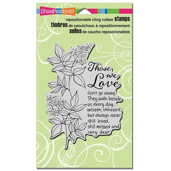 Stampendous Cling Stamp THOSE WE LOVE Rubber UM CRR265