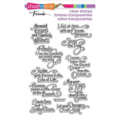 Stampendous Clear Stamps OCEAN WISDOM SSC1246 Preview Image