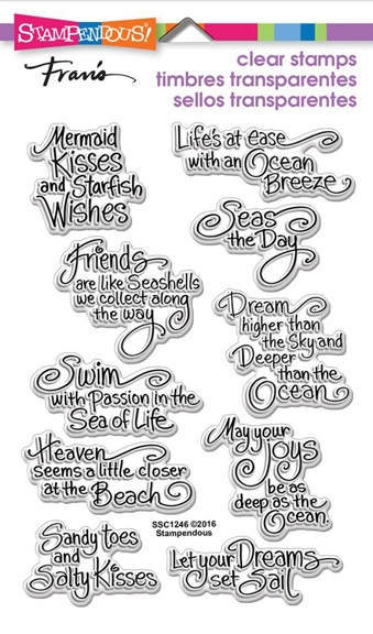 Stampendous Clear Stamps OCEAN WISDOM SSC1246 zoom image