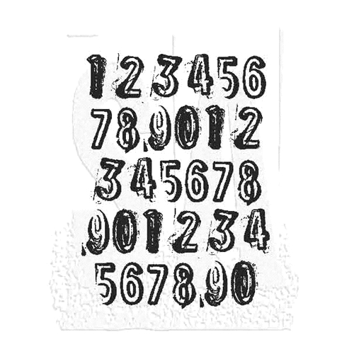 Tim Holtz Rubber Stamp COUNTDOWN J1-2840 * Preview Image
