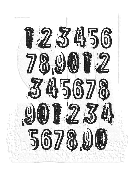 Tim Holtz Rubber Stamp COUNTDOWN J1-2840 * zoom image