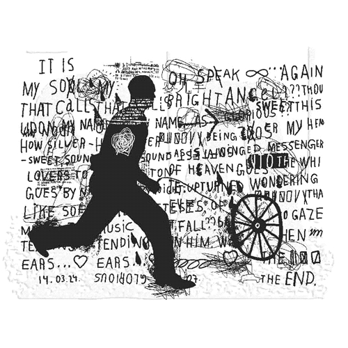 Tim Holtz Rubber Stamp MY SOUL Stampers Anonymous U1-2844 Preview Image