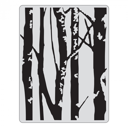 Tim Holtz Sizzix BIRCH TREES Texture Fades Embossing Folder 661405 Preview Image