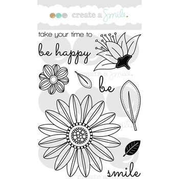 Create A Smile BOTANICAL LOVE Clear Stamps CLCS5*