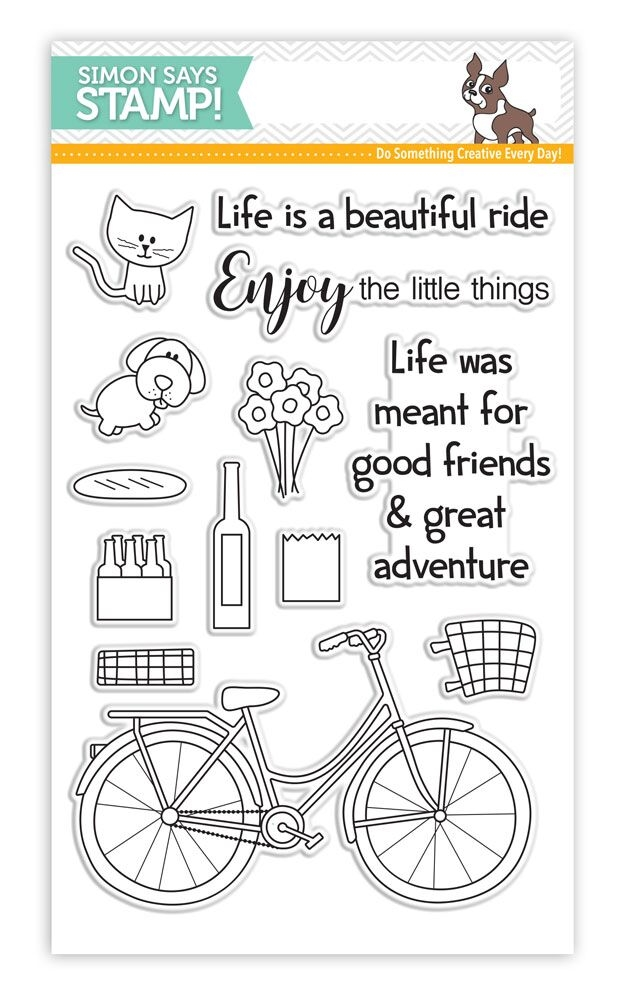 Simon Says Clear Stamps BEAUTIFUL RIDE SSS101604 My Favorite * zoom image