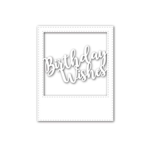 Simon Says Stamp BIRTHDAY WISHES FRAME Wafer Dies SSSD111582 My Favorite Preview Image