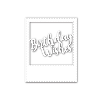 Simon Says Stamp BIRTHDAY WISHES FRAME Wafer Dies SSSD111582 My Favorite