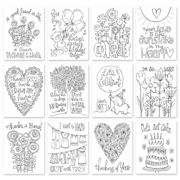 Simon Says Stamp Suzy's EVERY OCCASION NOTES Watercolor Prints My Favorite SPE12