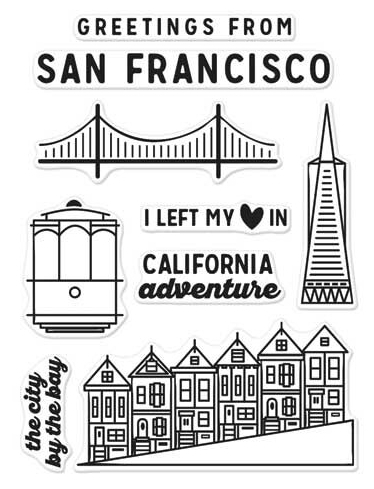 Hero Arts Clear Stamps KELLY'S SAN FRANCISCO Clearly Kelly CL971 zoom image