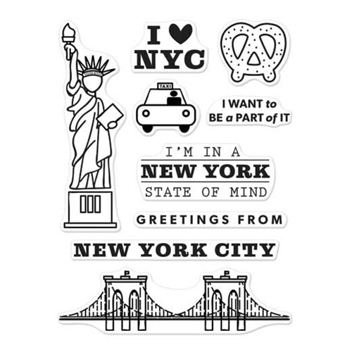 Hero Arts Clear Stamps KELLY'S NEW YORK Clearly Kelly CL968 Preview Image
