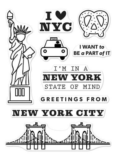 Hero Arts Clear Stamps KELLY'S NEW YORK Clearly Kelly CL968 zoom image