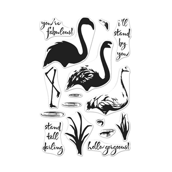 Hero Arts Clear Stamps COLOR LAYERING FLAMINGO CL962