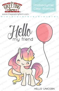 The Greeting Farm HELLO UNICORN Clear Stamps TGF234 zoom image